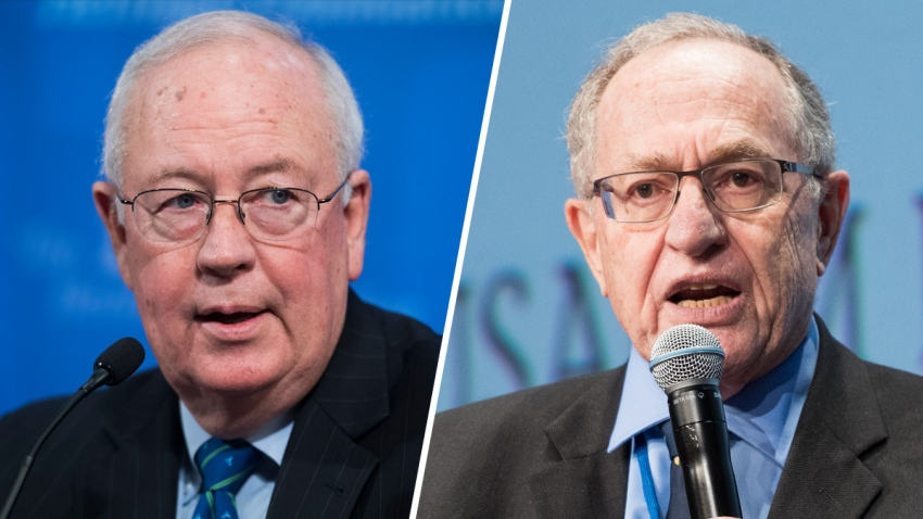 Los abogados Starr y Dershowitz
