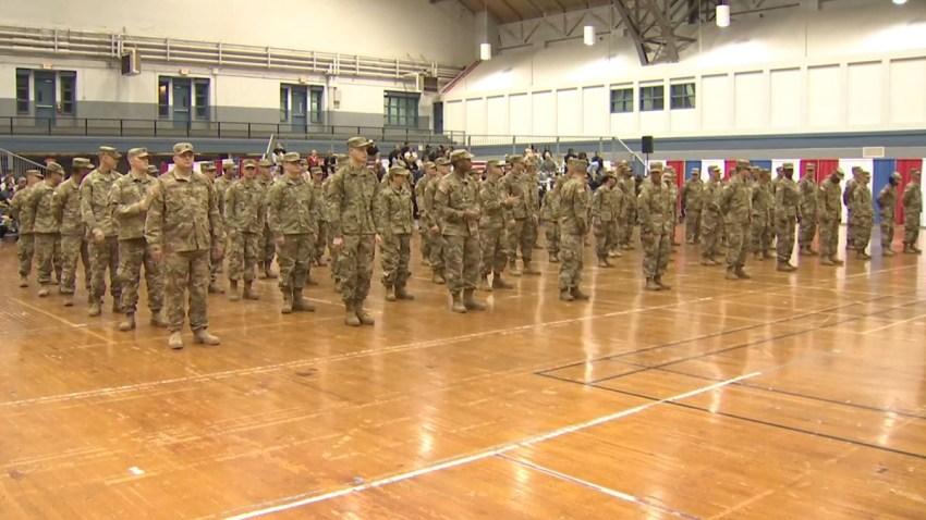 Soldados de la Guardia Nacional de Texas.