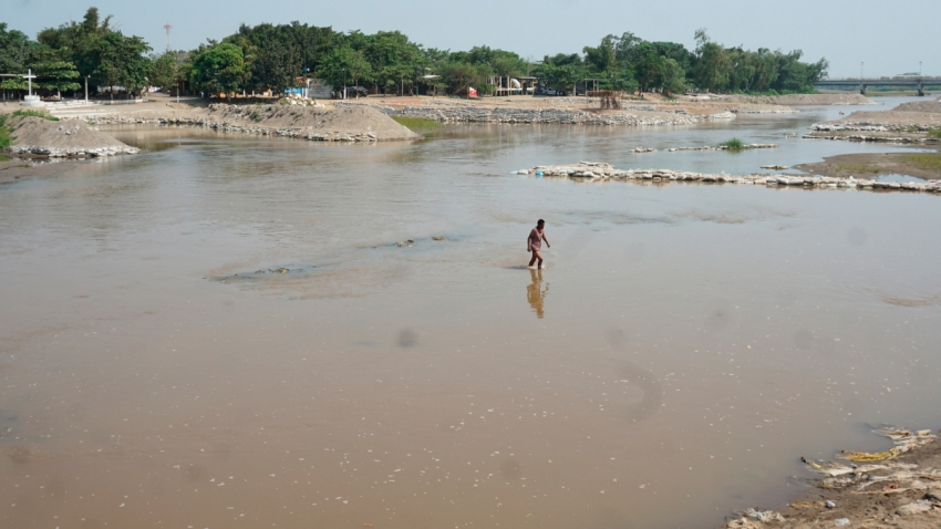 Río Suchiate, en Chiapas