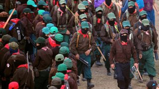 Integrantes del Ejército Zapatista de Liberación Nacional.