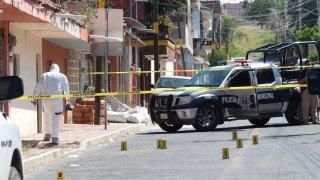 Escena de crimen en Apaseo El Grande, Guanajuato