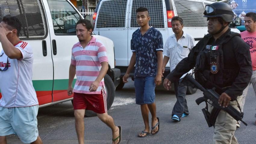 Grupo de migrantes interceptados en México