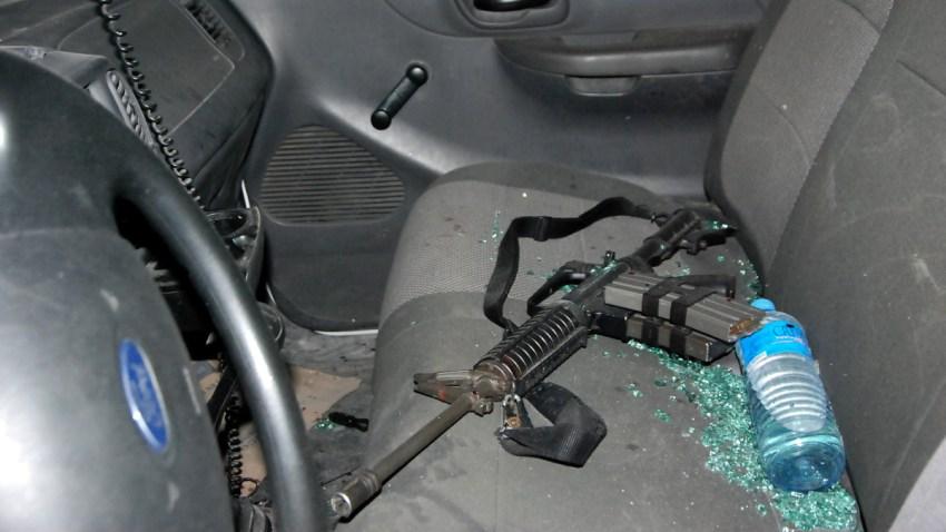 Arma utilizada en un ataque del crimen organizado.