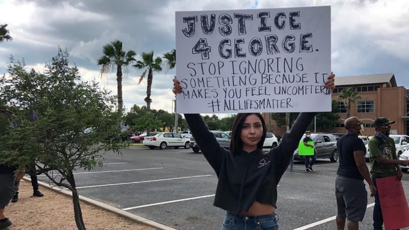 Edinburg: Manifestantes exigen justicia por muerte de George Floyd