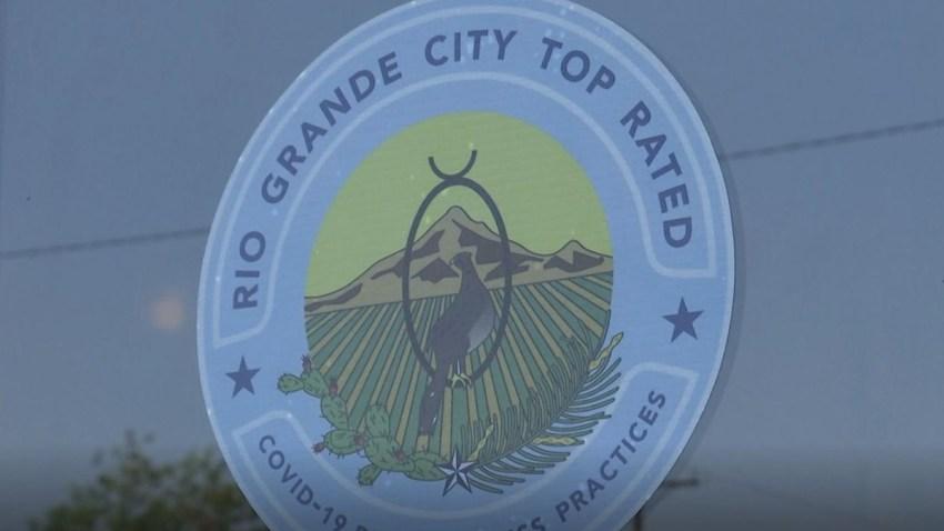 Sello con el logro de la ciudad de Rio Grande City