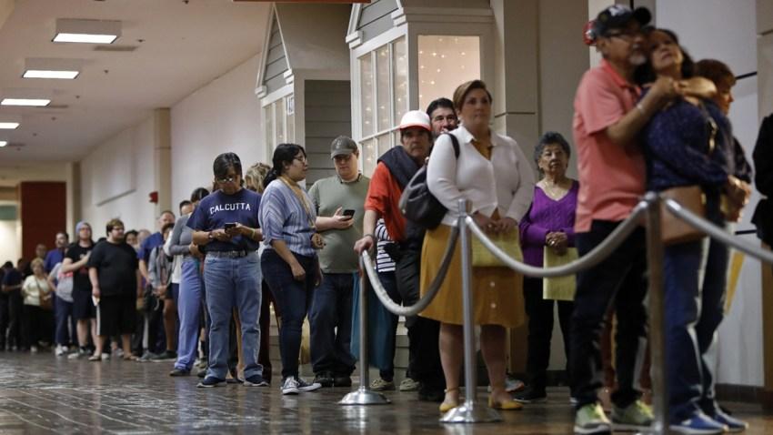 largas filas de votantes se vieron alrededor del estado durante la primaria de este 3 de marzo.