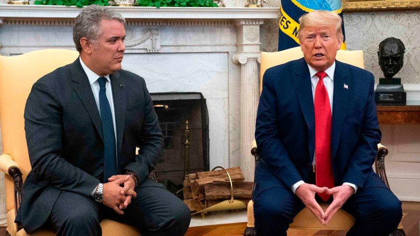 Los presidentes de Colombia y de Estados Unidos