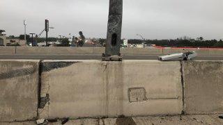 muro de concreto.