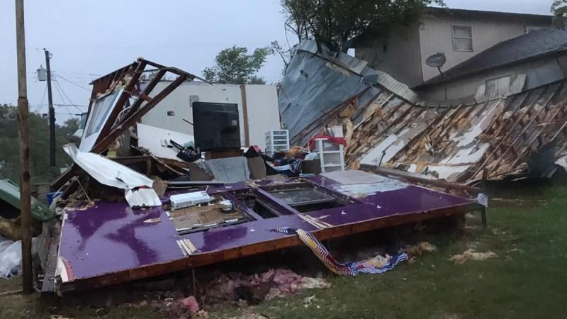 Estragos del Huracán Hanna en el sur de Texas