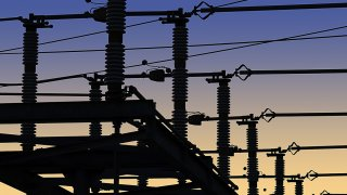 Transformadores del servicio de electricidad.