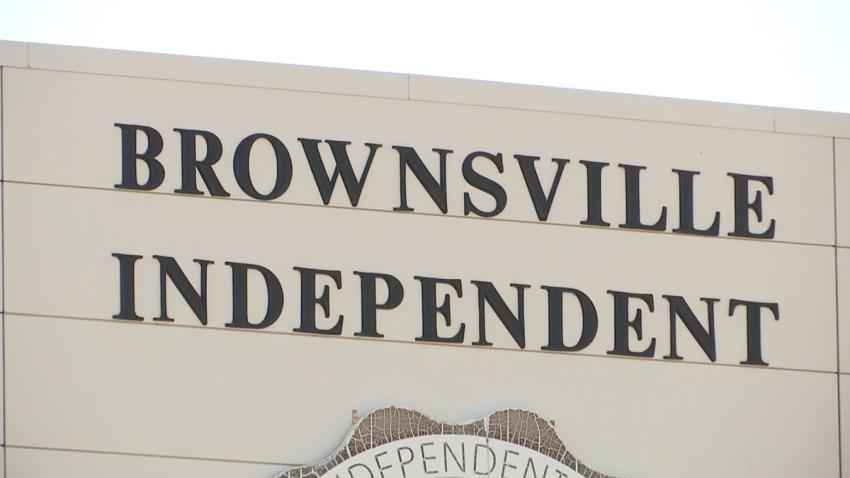 letrero del distrito escolar de Brownsville