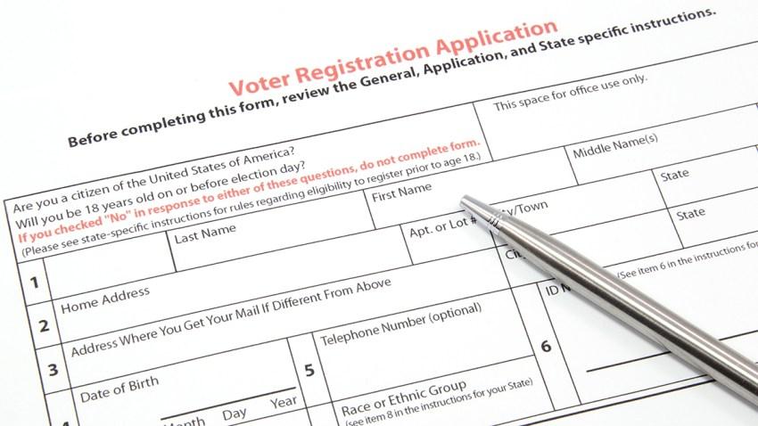 Imagen generica de solicitud para registrarse como votante.