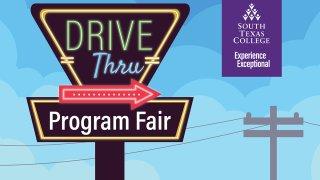 anuncio que lee drive thru program fair