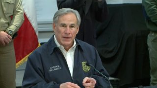 Texas Gov. Greg Abbott speaks at a press conference before a winter storm is expected to arrive in Texas on Saturday, Feb. 13, 2021.