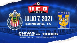 anuncio de partido entre Chivas y Tigres