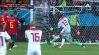 Marruecos tras una corrida memorable de Khalid Boutaib vence a David De Gea y pone el (1-0) ante España.