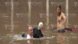 """""""Pensé que iba a morir"""": captan en video milagroso rescate"""