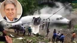 """""""Perdí el aliento"""", dice hijo de ejecutivo que se salvó de morir en jet privado"""