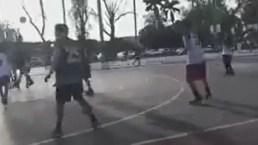 Jugadores de básquetbol huyen aterrados en medio de intensa balacera