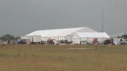 Por dentro: Las instalaciones del centro temporal para inmigrantes en Donna