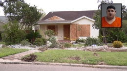 Presunto conductor ebrio embiste su auto contra una casa