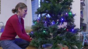 Cómo colocar luces navideñas de forma segura