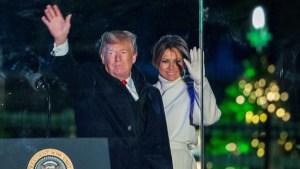 Melania vuelve a Washington para pasar navidades con Trump