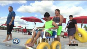 Parque acuático para niños especiales