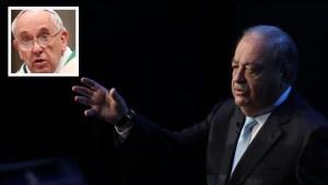 Carlos Slim entre los que financian viaje papal a México