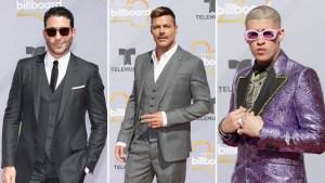 Guapísimos...los galanes de la alfombra roja de los Premios Billboard