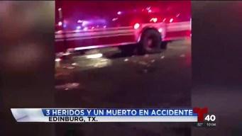Accidente entre autos deja a un muerto y tres heridos