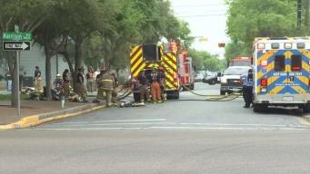 Autoridades investigan incendio en una funeraria