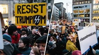 """""""Ni muro ni miedo"""", protestan contra el plan de Trump"""