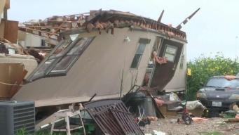 Tormenta destruye casa móvil  y deja a familia sin hogar