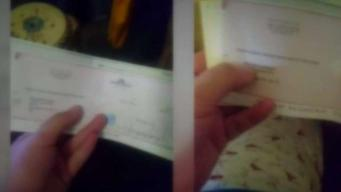 Llegaron cheques falsos a la puerta de su hogar.