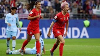 El 9-0 lo mete Megan Rapinoe contra Tailandia