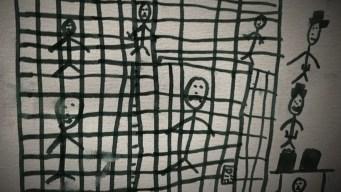 Niños dibujan sus experiencias en centros de detención