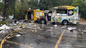 """Explosiones en San Marcos destruyen varias """"food trucks"""""""