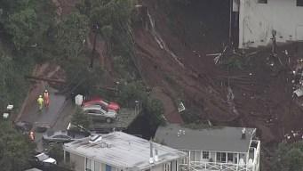 Desde el aire: así queda zona al norte de California tras deslaves