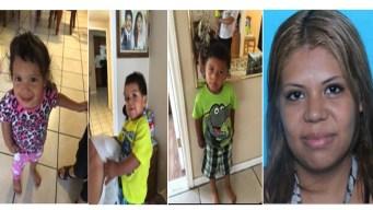 Madre intentaría huir a México con sus tres hijos raptados