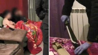 Operativo en video: hallan machetes y esclavas sexuales
