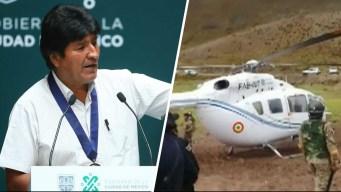 Morales pide investigación de incidente de helicóptero