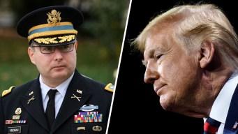 Juicio político: coronel desafía a Trump y lo cuenta todo