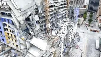 Desde el aire: video inédito tras el derrumbe del hotel Hard Rock