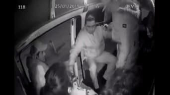 México: presos de asaltantes en el transporte público