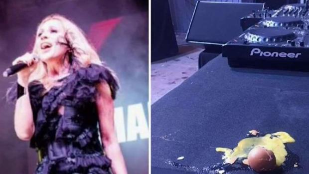 [TLMD - MIA] A huevazos atacaron a la cantante Marta Sánchez