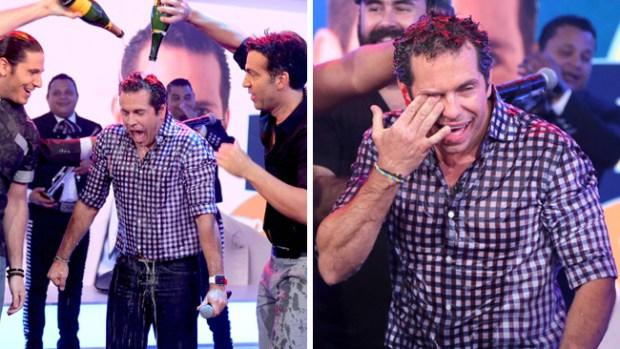 """Bañado en champaña se despide Diego de """"Un nuevo día"""""""