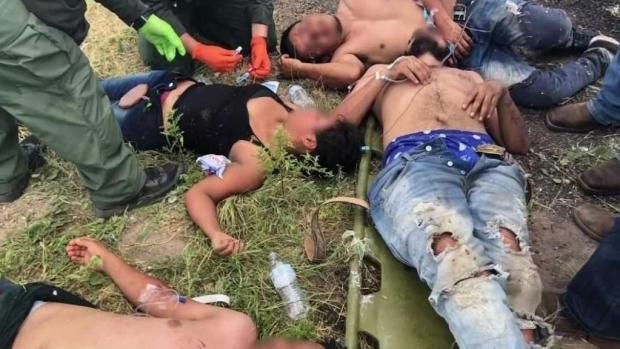 [TLMD - McAllen] Rescatan a indocumentados que estaban deshidratados