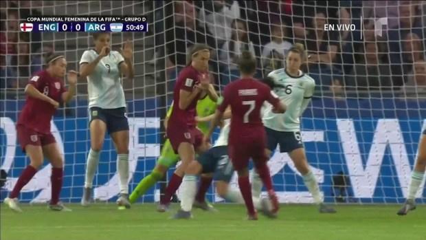[WWC 2019] ¡De locos! Otro atajadón de Vanina Correa contra Inglaterra