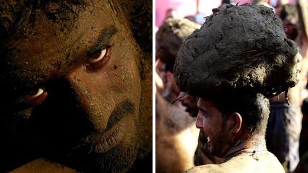India: se bañan en excremento de vaca para alejar las enfermedades